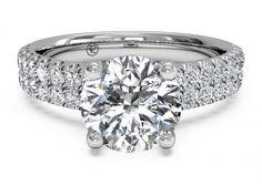 Ritani French-Set Engagement Ring - Ritani Platinum Double French-Set Band Engagement Ring.