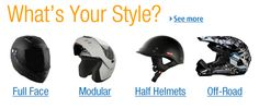 What's your style? Motorcycle Gear, Motorcycle Accessories, Bicycle Helmet, Off Road Helmets, Half Helmets, Quad Bike, What's Your Style, Atv Parts, Event Organization
