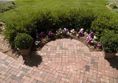 Backyard landscape and brick walk design