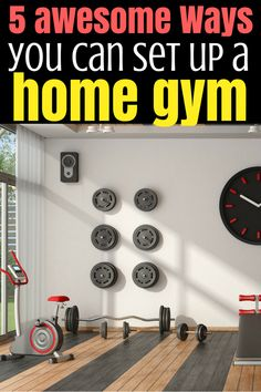 Find out the 5 awesome ways you can set up a home gym Running Training Programs, Running Tips, Fitness Tips For Men, Health And Fitness Tips, Lose Weight In A Month, How To Lose Weight Fast, Losing Weight, Commercial Break Workout, Bodyweight Upper Body Workout