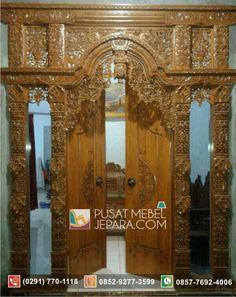 Jual Pintu Ukir Gebyok Klasik Kayu Jati Situbondo Murah Terpercaya - Pusat Mebel Jepara