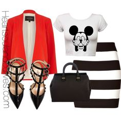 A fashion look from October 2014 featuring River Island blazers, Theory skirts and Valentino pumps. Browse and shop related looks.