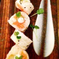 Hakujin- salmon, Asian pear, picked cauliflower, white asparagus Uchi Austin