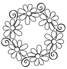 Gerber Daisy Block - Digital - Quilts Complete - Continuous Line Quilting… Paper Embroidery, Hand Embroidery Patterns, Embroidery Stitches, Quilt Patterns, Embroidery Designs, Hungarian Embroidery, Folk Embroidery, Japanese Embroidery, Quilting Stencils