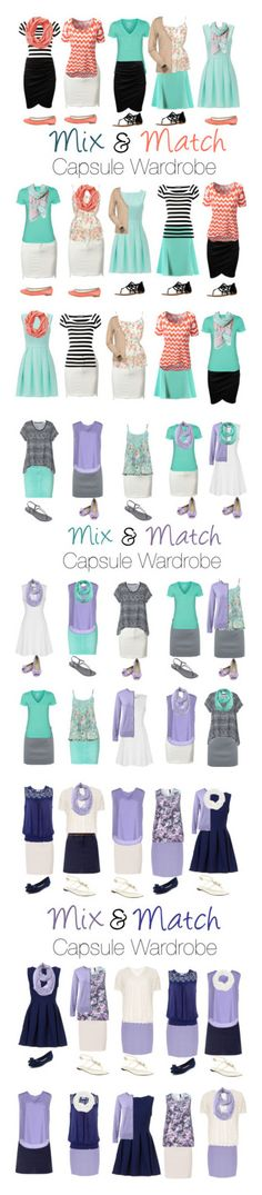 """""""Capsule Wardrobe: Spring 2016"""" by mary-grace-see on Polyvore featuring Spring…"""