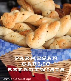 Parmesan Garlic Breadtwists from Jamie Cooks It Up!
