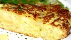 Tortilla de patatas con leche