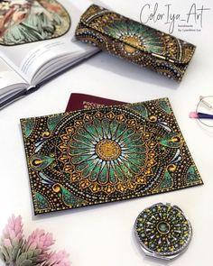 Wood Box Design, Table Top Design, Mandala Painting, Dot Painting, Painted Rocks, Hand Painted, Mandala Dots, Passport Cover, String Art