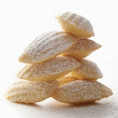 Vanilla Madeleines Recipe Desserts with all-purpose flour, baking powder, coarse salt, large eggs, granulated sugar, light brown sugar, unsalted butter, honey, pure vanilla extract, confectioners sugar