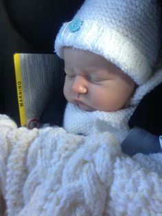 Baby Mitchell in Nannys knits
