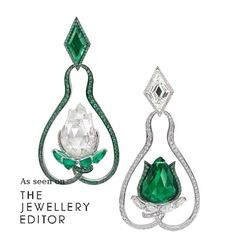 The asymmetric use of shape and colour of these spellbinding emeralds and…
