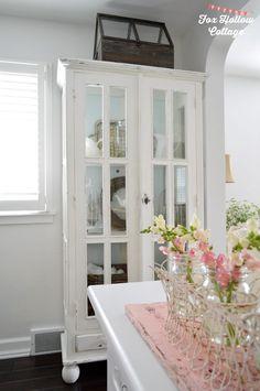 Farmhouse Cabinet - Cottage Living Room Tour