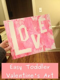 Toddler art; tape a word of design and let them paint over it.