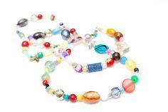 Aerosvar RandomJane colorful beaded hippie necklace made in Vienna