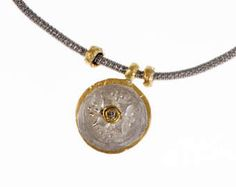 Ancient Coin Earrings Ancient Coin Jewelry Yellow Gold Coin