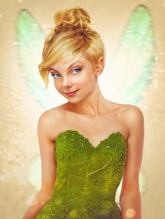 "Tinkerbell from Peter Pan.  Disney characters in ""real life"".  Photo Manipulation by, Jirka Väätäinen"