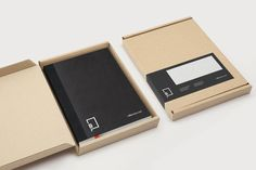 Logo, notebook and box sticker created by Freytag Anderson for advertising industry guide Little Black Book