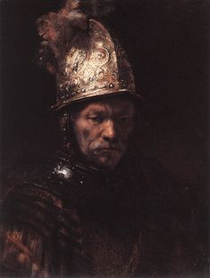 Man in a Golden Helmet, 1669 - Rembrandt van Rijn (Dutch, 1606-1669) Baroque