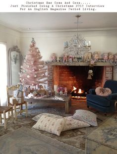 Rachel Ashwell Shabby Chic Couture   No wonder its hard to find a Pink vintage Santa!