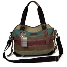 Casual Style Canvas Hobo Bag - Tote Bags - Crossbody Shouder Bag *** See this great image     - amazon affiliated pin
