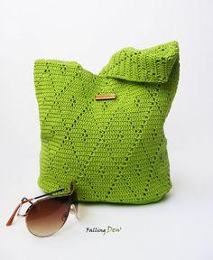 Crochet Handbag / Crochet Purse Spring Handbag / by FallingDew, £42.00