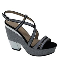 New Brieten Women's Strappy Platform Chunky Heel Ankle Strap Slingbacks Comfort Sandals *** See this great product.