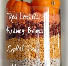 How to Decorate a Fall mantel: with beans!