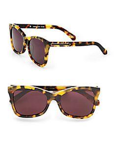 Karen Walker - Modified Cat's-Eye Sunglasses/Crazy Tortoise