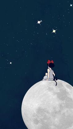 Wall Paper Phone Anime Studio Ghibli Ideas For 2020 Totoro, Studio Ghibli Art, Studio Ghibli Movies, Anime Kunst, Anime Art, Cute Wallpapers, Wallpaper Backgrounds, Fake Wallpaper, Iphone Backgrounds