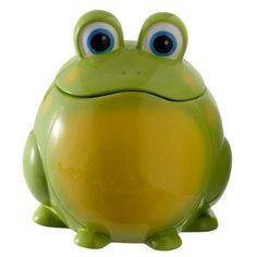 Out on a Whim Ceramic Green Frog Cookie Jar | shopswell