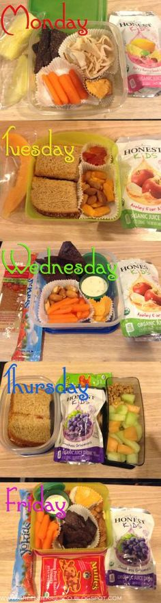 A week in the bag! Packing lunches for your child!