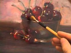 How to oil paint cherries