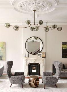 Auffallende Wohnzimmer Beleuchtungsideen Für Ihr Zuhause | Pinterest |  Kronleuchter Gold, Wohnideen Wohnzimmer Und Kronleuchter