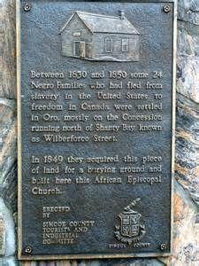 Shanty Bay plaque.