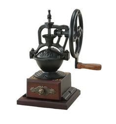 Retro Big Cast Iron Manual Grinder Upright Dust Brush Sent Home Coffee Bean Grinder