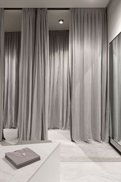 fitting room drapes - installation reference