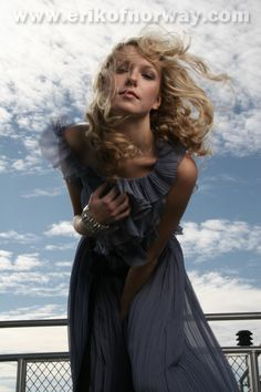 Blonde curly hair. Photo shoot by Erik of Norway stylists