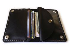 Leather Wallet black leather wallet handmade от MyLeatherCase