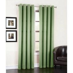 Sun Zero Madison Room-Darkening Grommet Curtain Panel Available In Multiple Colors And Sizes, Green