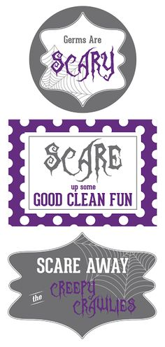 Halloween soap tags. Cute gift idea! FREE download. #Halloween #printables
