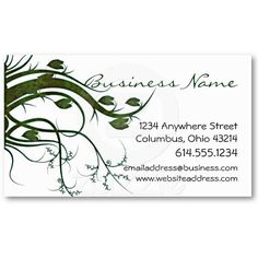Girly personal calling cards business card templates cheap green ivy nature business cards reheart Image collections