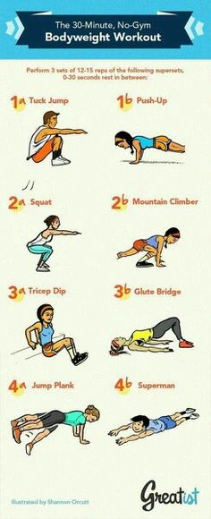 Awesome workout! I have 3 children so staying healthy I have to sneak in my workouts with my daily life! These exercises are easy to do! The mountain climber is my favorite, it is hard but as you get better at it it isn't so bad!<3
