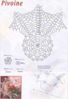 Coupes et paniers au crochet - Evelyne Dubos - Picasa Web Albums Free Crochet Doily Patterns, Crochet Doily Diagram, Crochet Borders, Crochet Designs, Crochet Doilies, Crochet Stitches, Crochet Vase, Knit Crochet, Crochet Storage