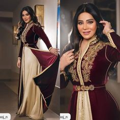 Modest Dresses, Pretty Dresses, Beautiful Dresses, Arab Fashion, Muslim Fashion, New Hijab Style, Party Dresses With Sleeves, Afghan Clothes, Moroccan Caftan