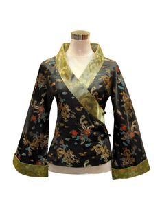 Japanese Kimono Style Dragon and Phoenix Jacket