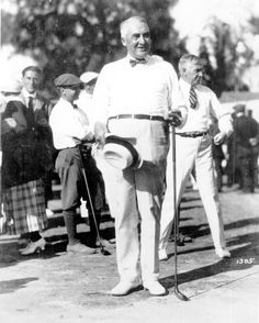 Lesson 13 President Warren G. Harding playing golf in Miami Beach, Florida on January Presidents Wives, Republican Presidents, American Presidents, American History, Warren Harding, Warren G, Presidential History, The Twenties, Roaring Twenties