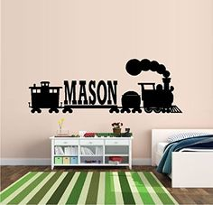 "THOMAS THE TRAIN: CUSTOM NAME ~ WALL DECAL 11"" X 31"" Best Priced Decals: CHILDREN http://www.amazon.com/dp/B00KIZLUG0/ref=cm_sw_r_pi_dp_HxpIub04WP1JG"