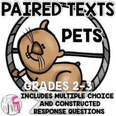 FREE Paired Texts / Paired Passages: Pets Grades 2-3