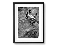 Plakat A3 - TIE fighter - DrawGeek - Wydruki cyfrowe