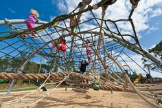 Urban Play provide complete playground solutions with ✓ Equipment ✓ Furniture ✓ Shade & ✓ Rubber Softfall services. Contact us for a FREE design and quote. Playground Design, Backyard Playground, Playground Ideas, Patio Design, Playgrounds, Climbing, Custom Design, Fair Grounds, Commercial